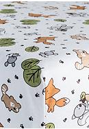 Trend Lab® Forest Animals Flannel Fitted Crib