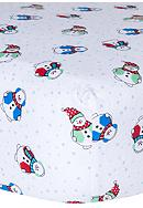 Trend Lab® Snowmen Deluxe Flannel Fitted Crib