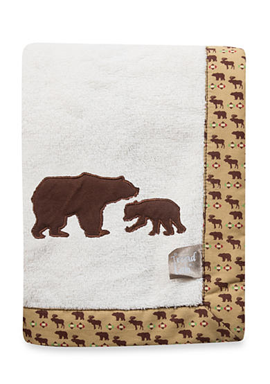 Trend Lab® Northwoods Bear Receiving Blanket