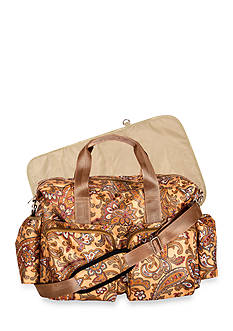 Trend Lab Paisley Brown Deluxe Duffle Diaper Bag