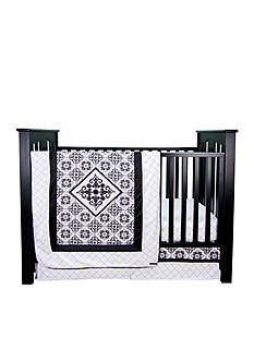 Trend Lab® Versailles Black and White 3 Piece Crib Bedding Set