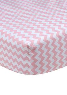 Trend Lab Pink Sky Chevron Crib Sheet
