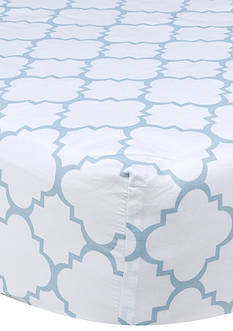 Trend Lab Blue Sky Quatrefoil Crib Sheet