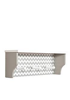 Trend Lab Dove Gray Chevron Shelf with Pegs