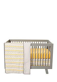 Trend Lab Buttercup Zigzag 3 Piece Crib Bedding Set
