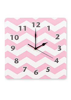 Trend Lab Pink Sky Chevron Wall Clock