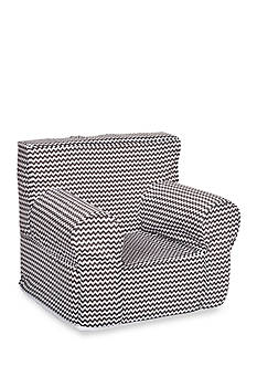 Trend Lab Bedtime Gray Chevron Petite Accent Chair