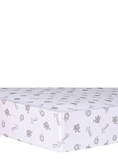 Trend Lab Safari Chevron Animals Fitted Crib Sheet
