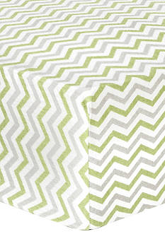 Trend Lab® Sage and Gray Chevron Deluxe Flannel Fitted Crib Sheet