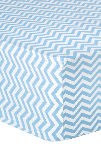 Trend Lab® Blue Chevron Deluxe Flannel Fitted Crib Sheet