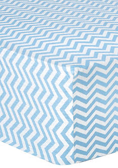 Trend Lab Blue Chevron Deluxe Flannel Fitted Crib Sheet