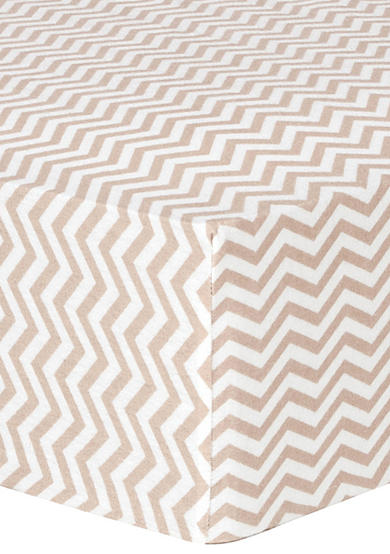 Trend Lab® Doe Chevron Deluxe Flannel Fitted Crib Sheet