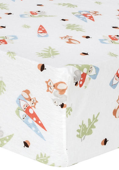 Trend Lab® Forest Gnomes Deluxe Flannel Fitted Crib Sheet