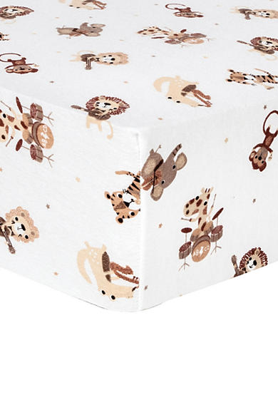 Trend Lab® Safari Rock Band Deluxe Flannel Fitted Crib Sheet