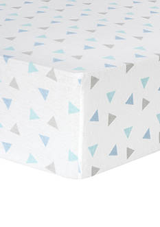 Trend Lab® Mint Triangles Deluxe Flannel Fitted Crib Sheet