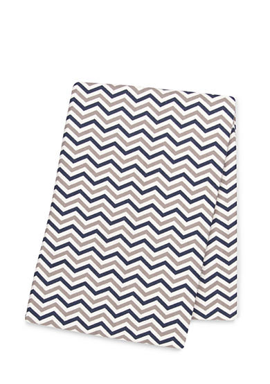 Trend Lab® Navy and Gray Chevron Deluxe Flannel Swaddle Blanket