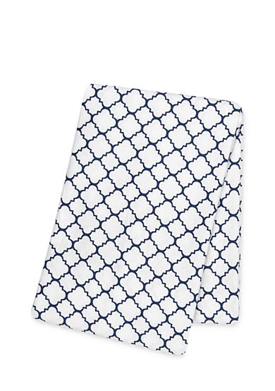 Trend Lab® Navy Quatrefoil Deluxe Flannel Swaddle Blanket