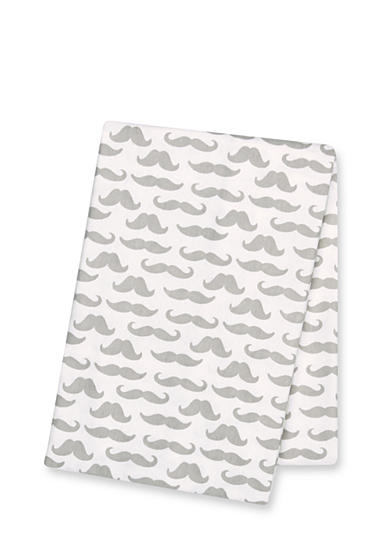 Trend Lab® Mustaches Deluxe Flannel Swaddle Blanket