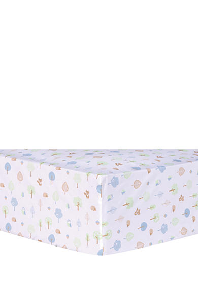 Trend Lab® Forest Tales Animals Fitted Crib Sheet