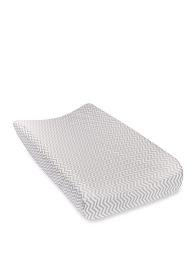 Trend Lab® Gray Chevron Deluxe Flannel Changing Pad Cover