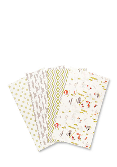 Trend Lab® Winter Woods 4 Deluxe Flannel Burp Cloths