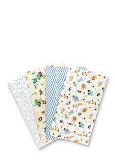 Trend Lab Jungle Friends 4 Deluxe Flannel Burp Cloths