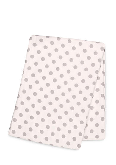 Trend Lab® Gray Dot Deluxe Flannel Swaddle Blanket