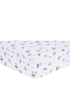 Trend Lab Safari Rock Band Multicolored Animal Fitted Crib Sheet