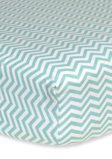Trend Lab® Mint Chevron Flannel Fitted Crib Sheet