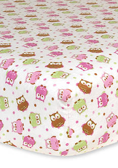 Trend Lab Owl Flannel Fitted Crib Sheet