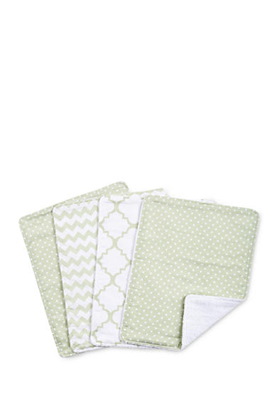 Trend Lab® Sea Foam Four-Pack Burp Cloth Set
