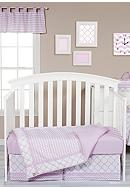 Trend Lab® Orchid Bloom Three-Piece Crib