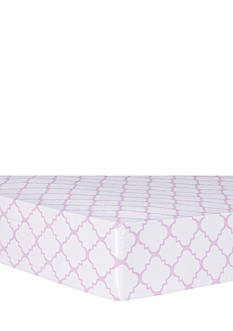 Trend Lab Orchid Bloom Quatrefoil Fitted Crib Sheet