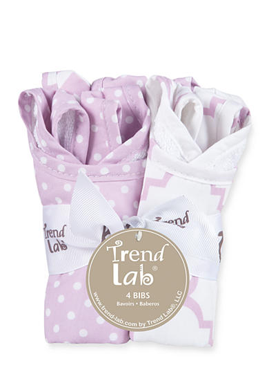 Trend Lab® Orchid Bloom Four-Pack Bib Set