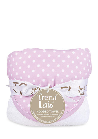 Trend Lab® Orchid Bloom Dot Hooded Towel
