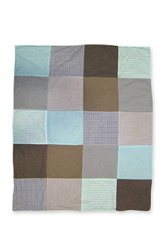 Trend Lab Cocoa Mint Receiving Blanket