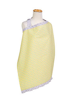 Trend Lab Triangles Yellow and Aqua Nursing Cover