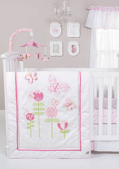 Trend Lab Floral Fun 6 Piece Crib Bedding Set