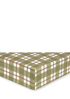 Trend Lab Deer Lodge Plaid Flannel Fitted Crib Sheet