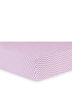 Trend Lab Lilac Chevron Flannel Fitted Crib Sheet
