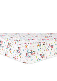 Trend Lab Winter Wishes Flannel Fitted Crib Sheet