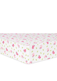 Trend Lab Pink Reindeer Flannel Fitted Crib Sheet