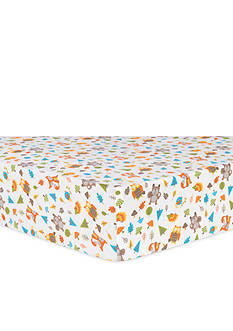 Trend Lab Woodsy Animals Flannel Fitted Crib Sheet