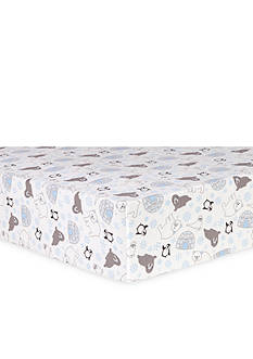 Trend Lab Igloo Friends Flannel Fitted Crib Sheet