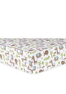 Trend Lab Sage Safari Animals Flannel Fitted Crib Sheet