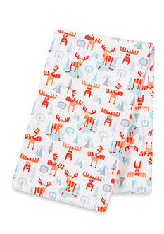 Trend Lab Winter Moose Flannel Swaddle Blanket