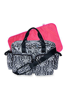 Trend Lab® Midnight Fleur Damask Deluxe Duffle Diaper Bag