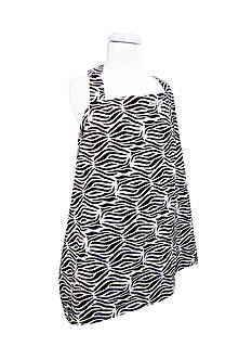 Trend Lab Black & White Zebra Nursing Cover
