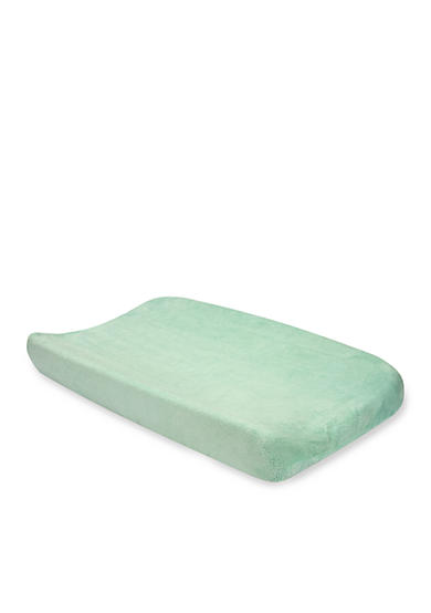 Trend Lab® Mint Coral Fleece Changing Pad Cover