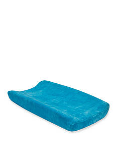 Trend Lab Blue Fleece Changing Pad Cover